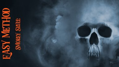 Easy method Smokey Skull Painting in Acrylic paint on Canvas