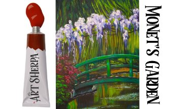 How to paint Monet's Garden Bridge and pond reflections The Art Sherpa