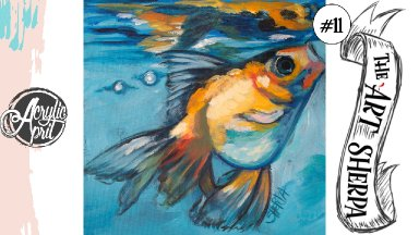 Goldfish loose step by step Acrylic April day #12