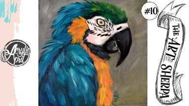 Colorful parrot loose step by step Acrylic April day #10
