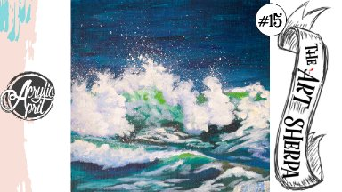 Easy Crashing wave loose step by step Acrylic April day #15