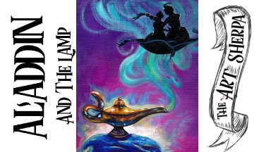Aladdin 2019 acrylic painting tutorial for beginners step by step