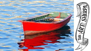 Easy Red boat  acrylic painting tutorial for beginners step by step