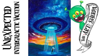 UFO easy acrylic painting tutorial for beginners step by step