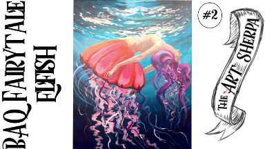 BAQ Elfish acrylic painting tutorial for  step by step part 2