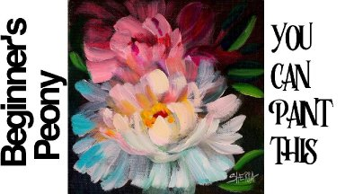 Easy painting tutorial for beginners acrylic The White Peony 🌸💐