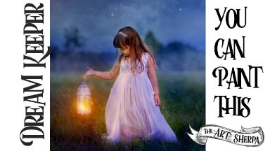 Easy Acrylic painting Fairytale  Lantern and Girl Step by step