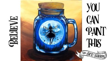 Fairy Pixie Moon in Jar Easy Acrylic painting Step by Step Live Stream