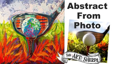 EASY Golf Ball Abstract painting tutorial from a  Photo LIVE STREAM