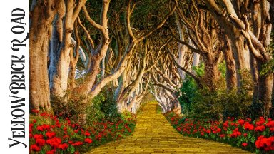 Yellow Brick road Acrylic painting tutorial  step by step LIVE stream