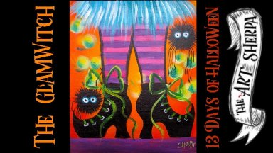 Witch Feet Easy Acrylic painting step by step Live Stream #13daysofHalloween