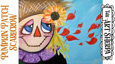 Easy Pumpkin Patch Scarecrow  Acrylic painting tutorial step by step Live Streaming