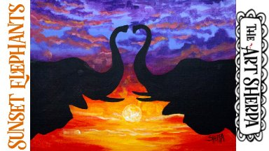 For the Love of Elephants Acrylic painting Class Step by step
