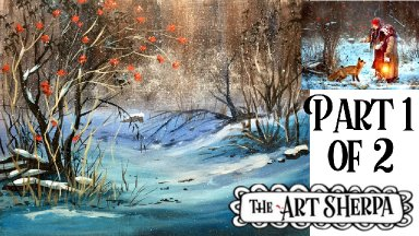 Winter Fairytale Acrylic painting tutorial step by step Live Streaming Part 1