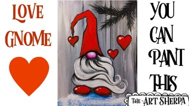 Easy Love Gnome Acrylic painting tutorial step by step Live Streaming