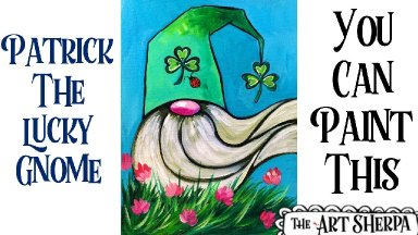 Lucky Gnome  Acrylic painting tutorial step by step Live Streaming