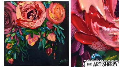 BEST  SIMPLE  Abstracted Roses 🌹  Acrylic painting tutorial step by step Live Streaming