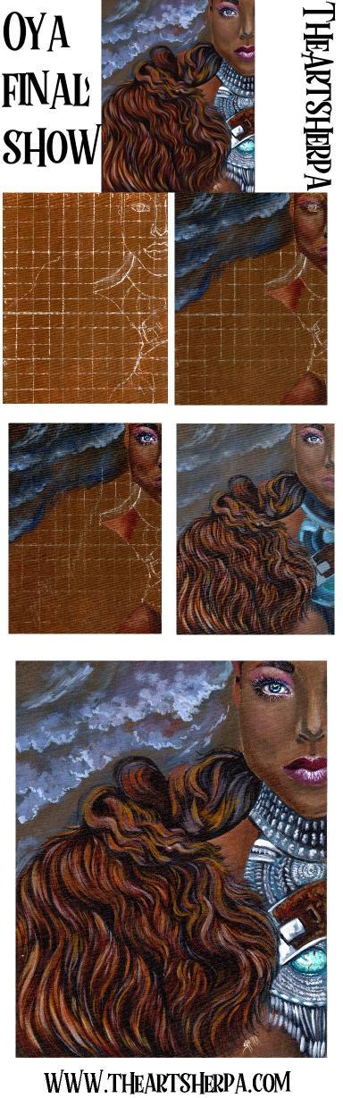Final  Warrior Queen  Oya Big art Quest fairytale part 5       TheArtSherpa   TheArtSherpa