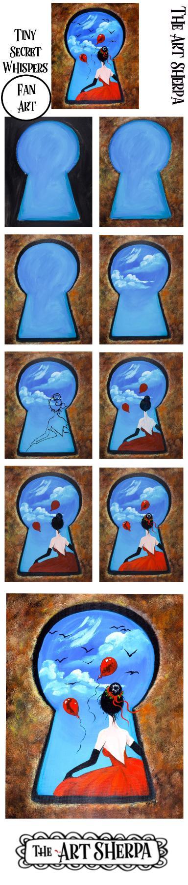 Easy Tiny Secret Whispers   Fan Art  Step by step Acrylic Tutorial    TheArtSherpa