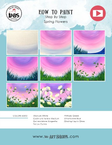 EASY Spring Flowers Acrylic Painting on Canvas for Beginners #lovespringart2017